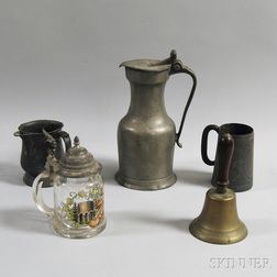Five Pewter and Brass Items