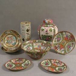 Eight Pieces of Assorted Chinese Export Porcelain