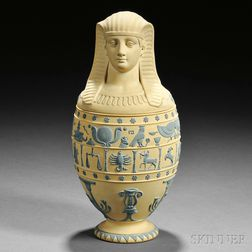 Wedgwood Caneware Canopic Jar and Cover