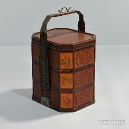 Portable Bamboo Food Basket