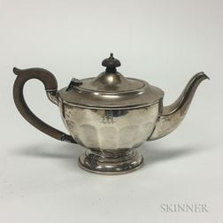 English Sterling Silver Monogrammed Teapot