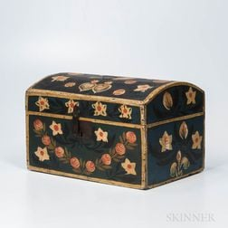 Paint-decorated Dome-top Trunk