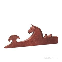 Plains Catlinite Horse Head Pipe Bowl