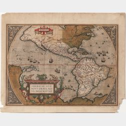 North, Central, and South America. Abraham Ortelius (1527-1598) Americae Sive Novi Orbis, Nova Descriptio.