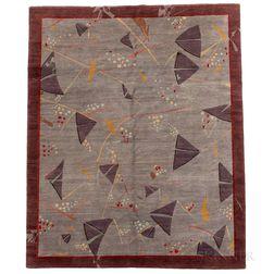 "Karen LaFleur ""Kites"" Tibetan Woven Rug"