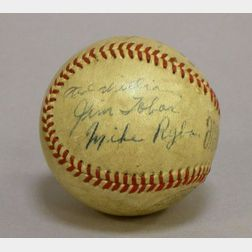 1941/1942 Boston Red Sox Autographed Baseball