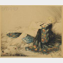 Louis Icart (French, 1888-1950)      La robe de chine