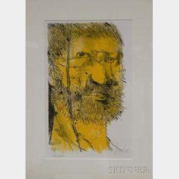 Leonard Baskin (American, 1922-2000)      Captain Ahab