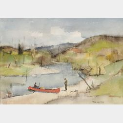 Paul Starrett Sample (American, 1896-1974)      The Trout Stream, Early Spring