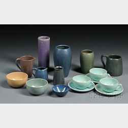 Sixteen Pieces of Art Pottery
