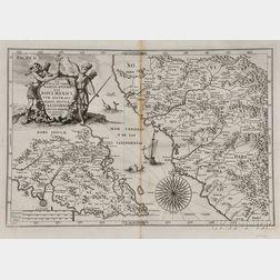 Baja California and Mexico. Heinrich Scherer (1628-1704) Delineatio Nova et Vera Partis Australis Novi Mexici, cum Australi Parte Insul