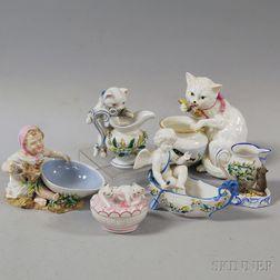 Six Porcelain Figures
