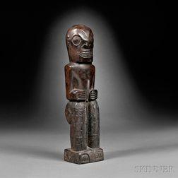 Marquesas Islands Carved Wood Figure