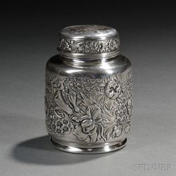 Gorham Sterling Silver Indian Harbor Yacht Club Trophy Tea Canister
