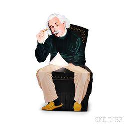 Paint-decorated Albert Einstein Chair