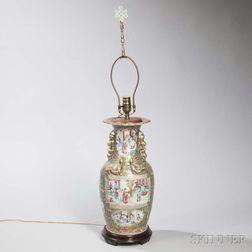 Rose Medallion Export Porcelain Vase