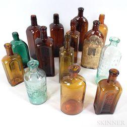 Fourteen Glass Bottles