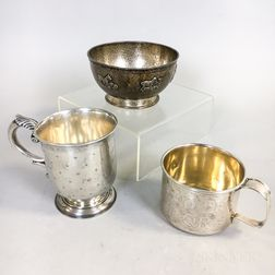 Three Pieces of Sterling Silver Children's Tableware