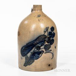 Four-gallon Cobalt-decorated Stoneware Jug