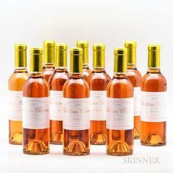 Chateau Climens 2001, 10 demi bottles