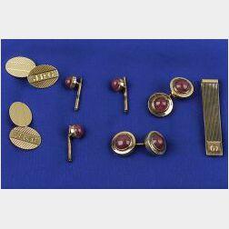 Group of 14kt Gold Gentlemen's Jewelry