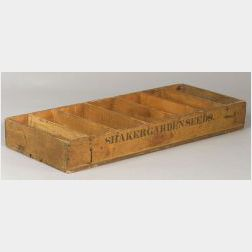 Shaker Wooden Seed Display Box
