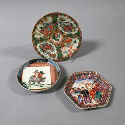 Three Chinese and Japanese Porcelain Dishes