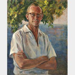 Raphael Soyer (American, 1899-1987)      Portrait of a Man (David Soyer, Cellist)