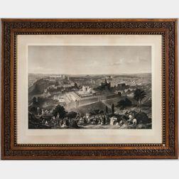 Charles Mottram (British, 1807-1876), After Henry Courtney Selous (British, 1811-1890)  Two Works: Jerusalem in Her Grande...