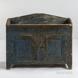 Blue-painted Pine Dry Sink
