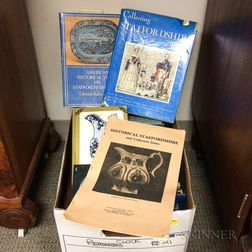 Box of Books on Staffordshire and Related British Ceramics.     Estimate $20-200