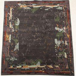 "Karen LaFleur ""Midnight Garden"" Tibetan Woven Rug"