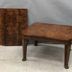 French Empire-style Ormolu-mounted Fruitwood Dining Table and Twelve Chairs.     Estimate $20-200