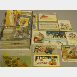 Collection of Early 20th Century Holiday Postcards