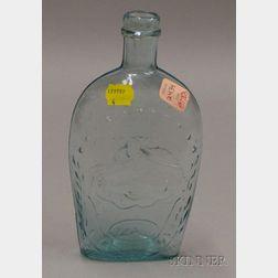 Aqua Blown Molded Glass Union F.A. & Co. Flask.