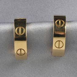 """18kt Gold """"Love"""" Earrings, Cartier"""