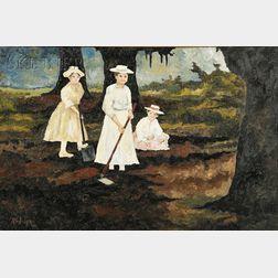 George Rodrigue  (American, b. 1944)      Cajun Farmer's Daughters