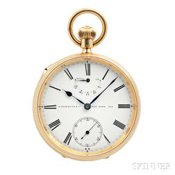 A.P. Walsh, London, No. 218 18kt Gold Open Face Chronometer