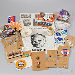 Large Collection of Political Items