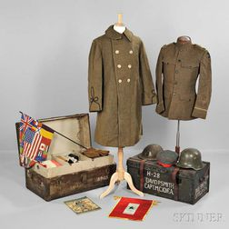 "Trunks, Uniforms, and Equipment Owned by Captain David Parker Smith, 26th ""Yankee"" Division"