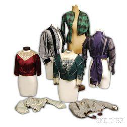 Seven Victorian Silk Bodices