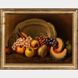 American School, Mid-19th Century      Still Life with Fruit