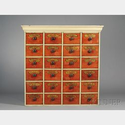 Paint-decorated Apothecary Chest with Twenty Drawers