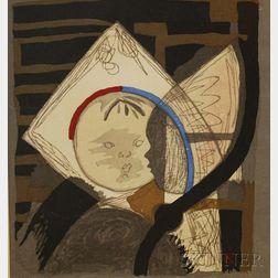 Junichiro Sekino (Japanese, 1914-1988)      Portrait of a Child.