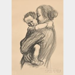 Käthe Kollwitz (German, 1867-1945)      Mutter mit Jungen