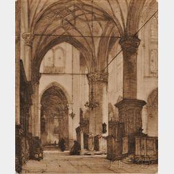 Johannes Bosboom (Dutch, 1817-1891)    Alkmaar Church Interior