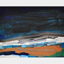 American Abstract School, 20th Century      Night Over Penobscot Bay
