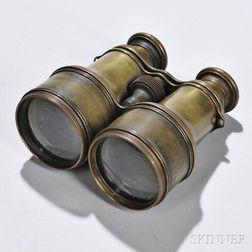 Pair of Brass Telescoping Binoculars