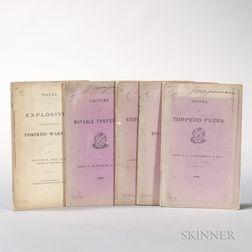 Torpedo Warfare, 1870s, Five Pamphlets.