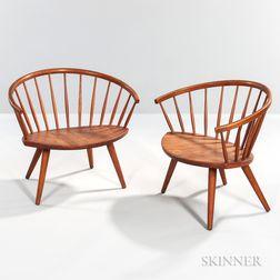 Pair of Ynge Ekstrom for Arka Horseshoe-back Chairs